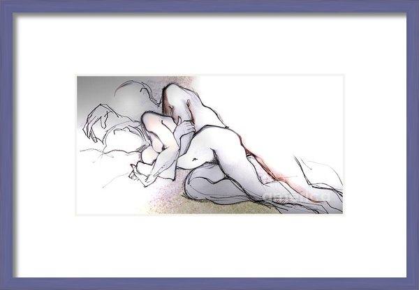 Carolyn Weltman - Spooning - Couples in Lov... Print