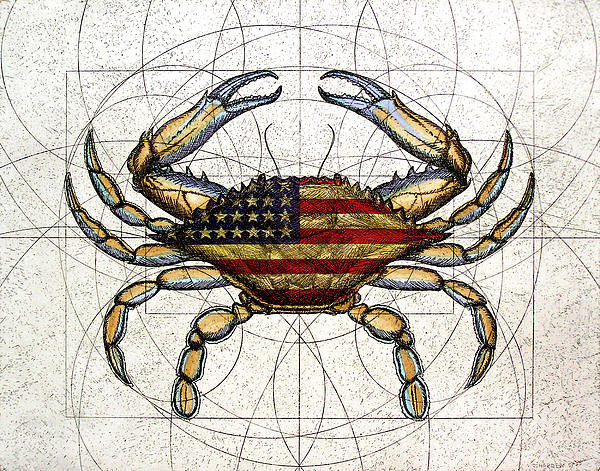 Charles Harden - 4th of July Crab Print