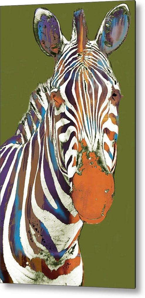 Kim Wang - Zebra - stylised drawing ... Print