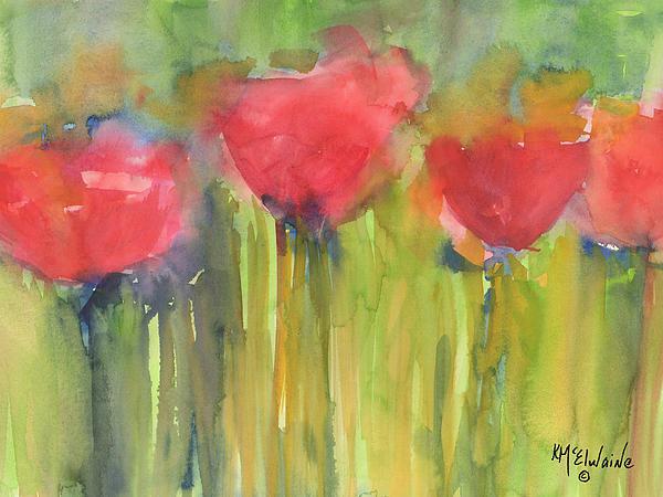 Kathleen McElwaine - Red Poppy Elegance Print