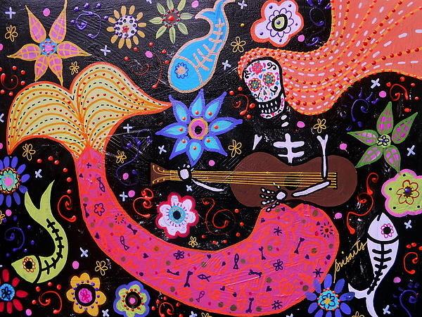 Pristine Cartera Turkus - Day Of The Dead Mermaid Print