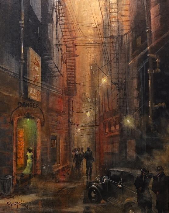 Tom Shropshire - Tooker Alley Chicago Print