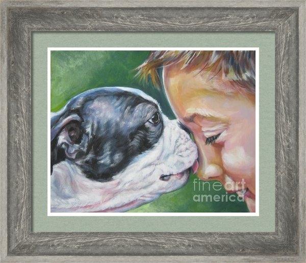 Lee Ann Shepard - Boston terrier kiss Print