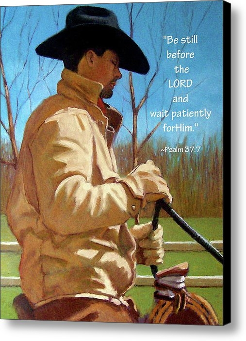 Joyce Geleynse - Cowboy in Pastel with Scr... Print