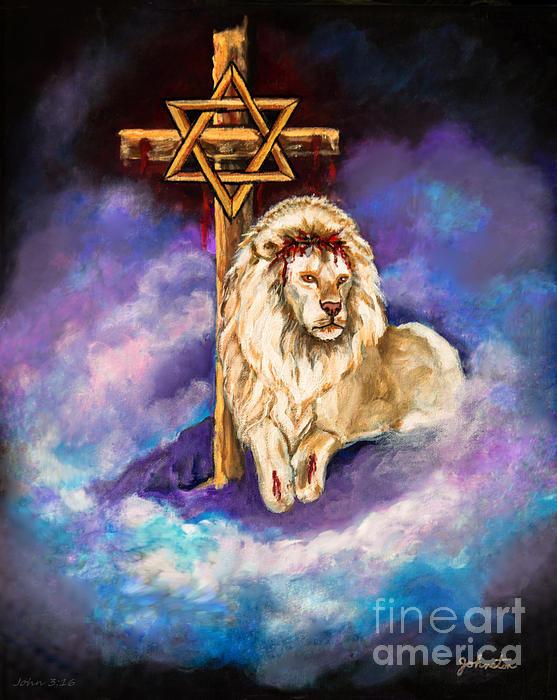 Nadine Johnston - Lion of Judah Original Pa... Print