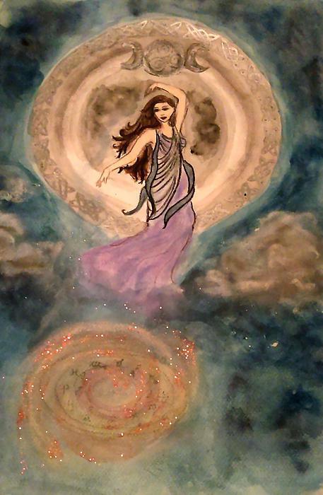 Jennie Hallbrown - Moon Goddess Print