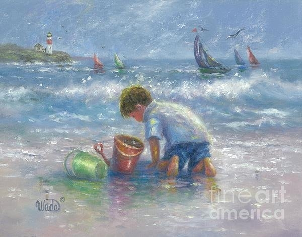 Vickie Wade - Sand and Sailboats Print