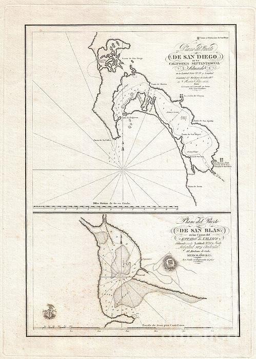 Paul Fearn - 1825 Victoria Map of San ... Print