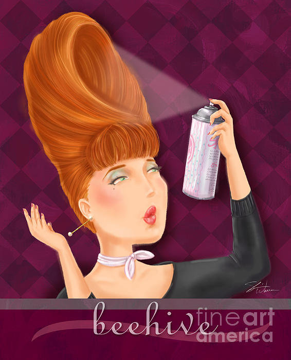 Shari Warren - Retro Hairdos-Beehive Print