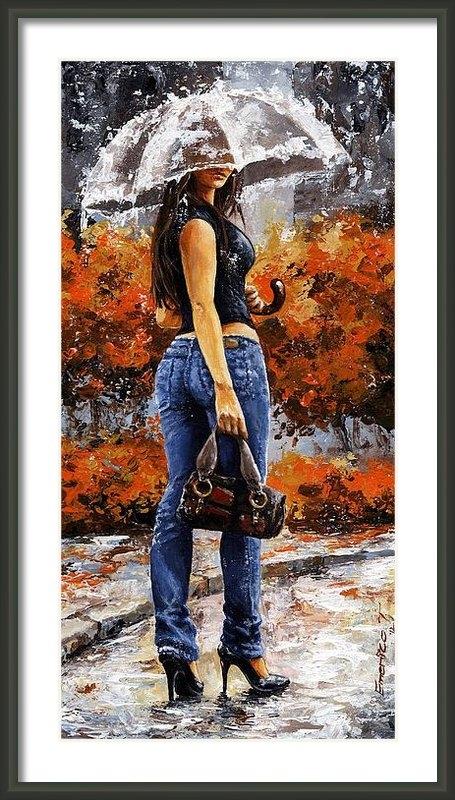 Emerico Imre Toth - Rainy day - Woman of New ... Print