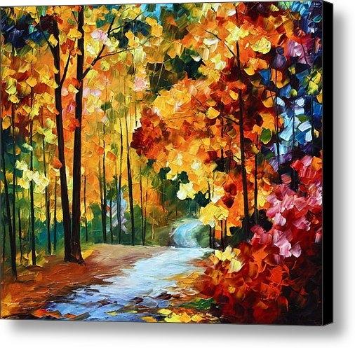 Leonid Afremov - Red Fall Print