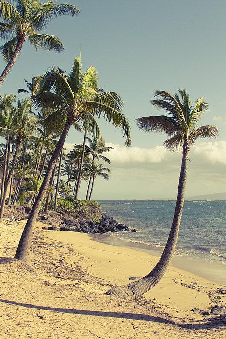 Sharon Mau - Maui Lu Beach Hawaii Print