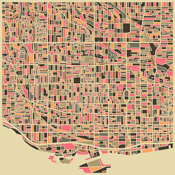 Jazzberry Blue - Toronto Map Print