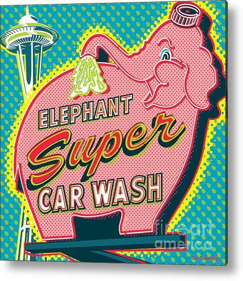 Jim Zahniser - Elephant Car Wash and Spa... Print
