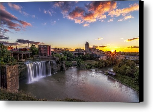 Mark Papke - High Falls Rochester NY Print