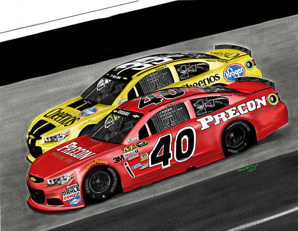 Myke  Irving - Hillman racing sprint cup... Print