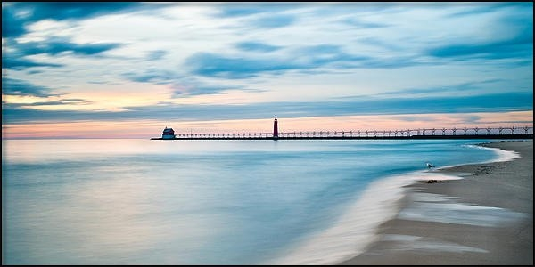 Larry Carr - Grand Haven Pier - Smooth... Print