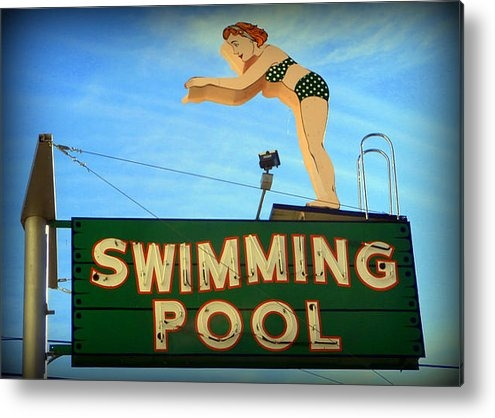 Karyn Robinson - Vintage Swimming Lady Hot... Print