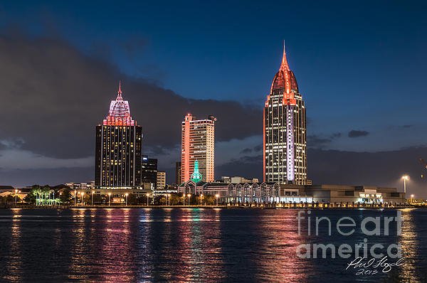 Phil Floyd - Mobile Alabama Skyline Print