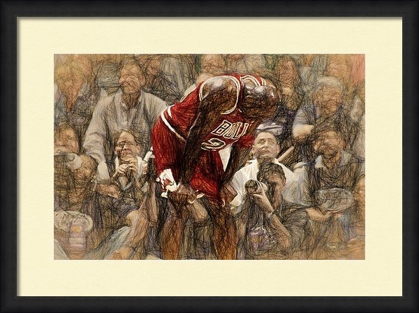 John Farr - Michael Jordan The Flu Ga... Print