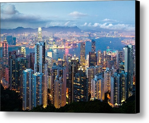 Dave Bowman - Hong Kong at Dusk Print