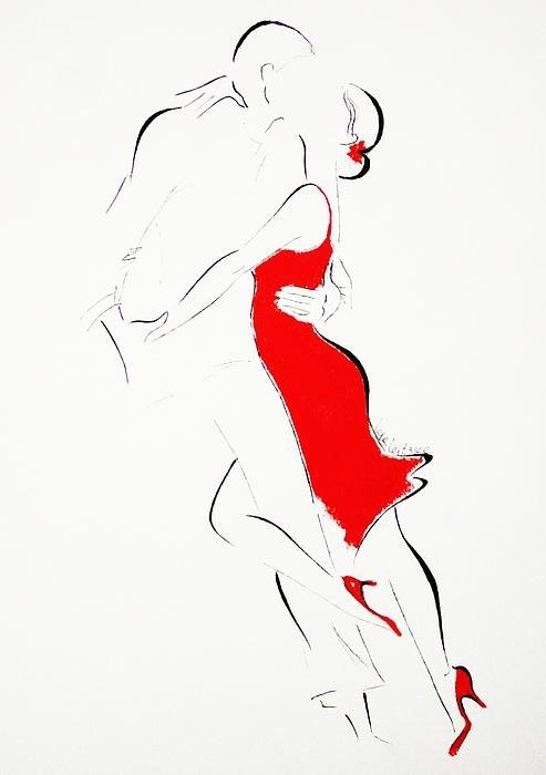 Lena  Leitzke - Red Dress-II Print