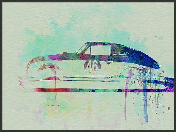 Naxart Studio - Porsche 356 Watercolor Print