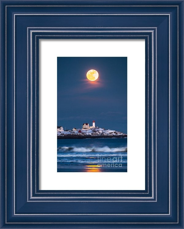 Benjamin Williamson - Moon Over Nubble Print