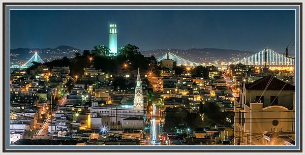 Dan Shehan - Coit Tower at Night Print
