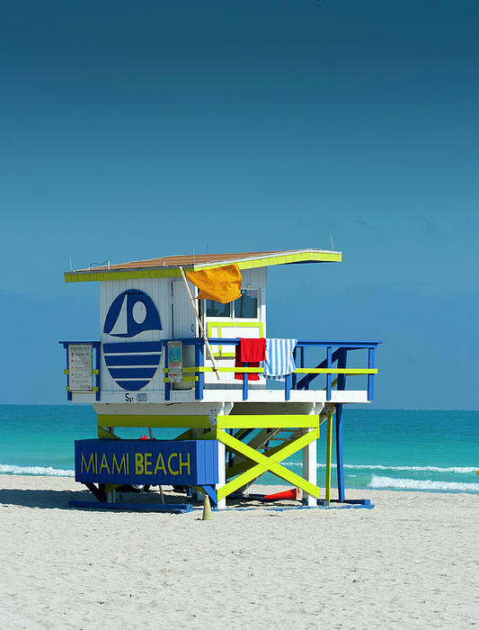 W Kurt Staley - Miami Beach lifeguard sha... Print