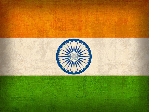 Design Turnpike - India Flag Vintage Distre... Print