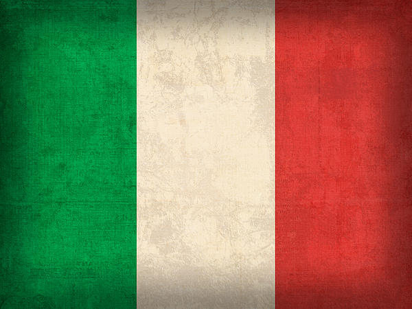 Design Turnpike - Italy Flag Vintage Distre... Print