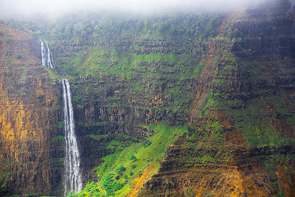 John Roy - Waimea Canyon Waterfall  ... Print
