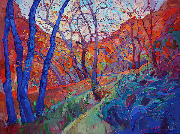 Erin Hanson - Autumn Blues Print