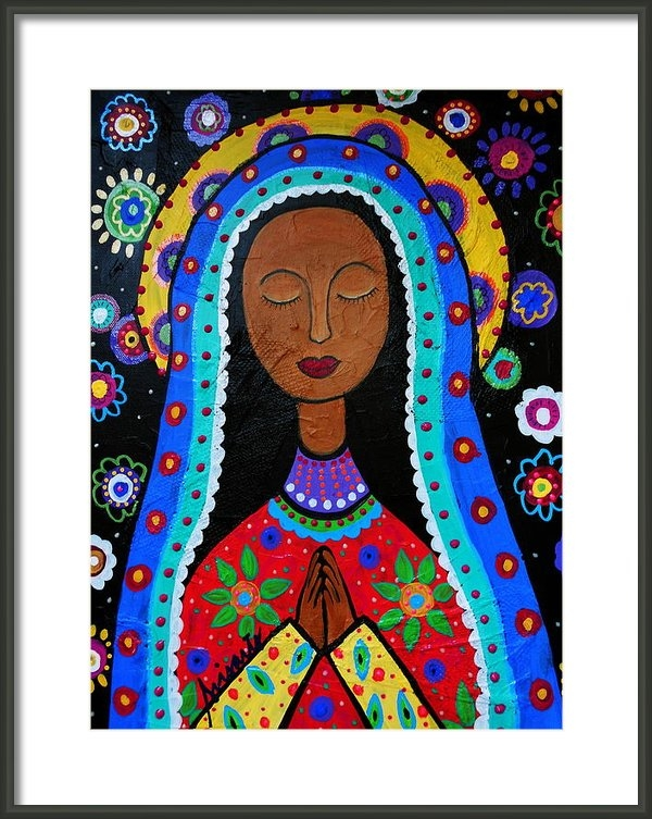 Pristine Cartera Turkus - Our Lady Of Guadalupe Print