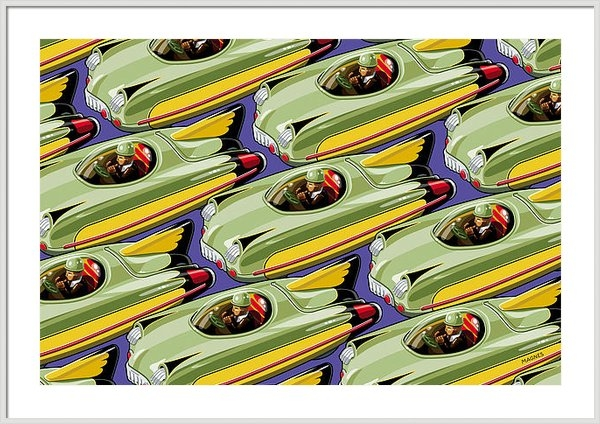 Ron Magnes - Jet Racer rush hour Print