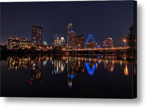 Todd Aaron - Austin Skyline At Night Print
