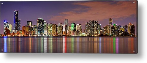 Jon Holiday - Miami Skyline at Dusk Sun... Print