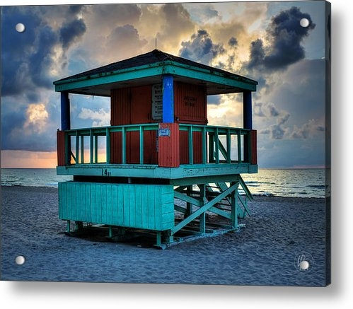 Lance Vaughn - Miami - South Beach Lifeg... Print