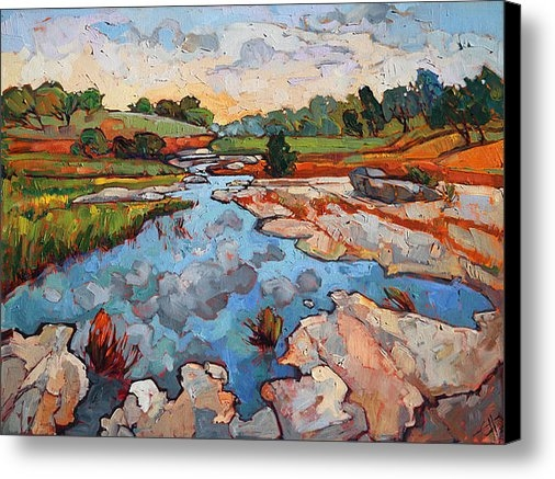 Erin Hanson - Hill Country Waters Print