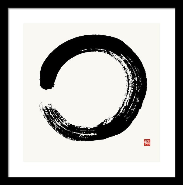 Nadja Van Ghelue - Enso Circle Brushed In Bl... Print