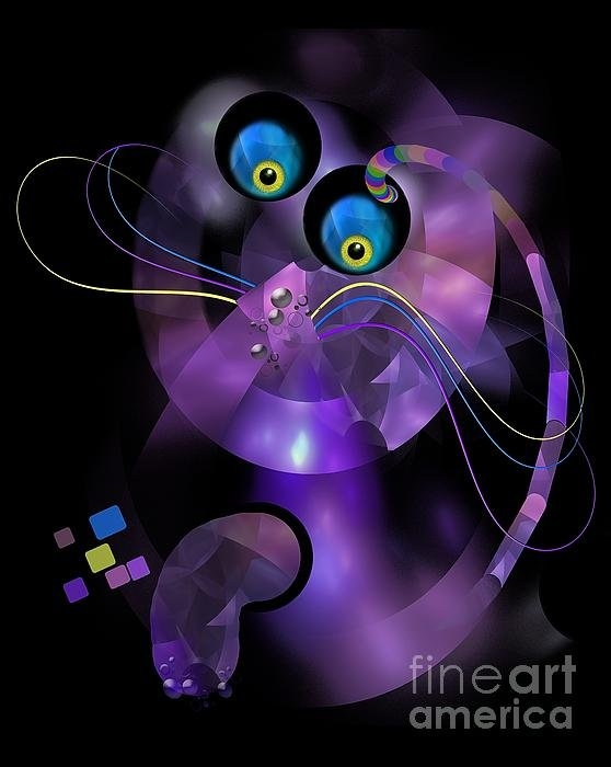 Marek Lutek - Cats 006-13 - marucii Print