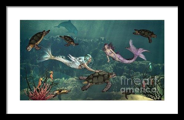 Methune Hively - Mermaids At Turtle Spring... Print