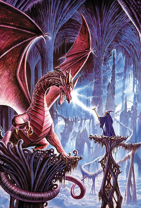 Steve Crisp - The dragons lair Print