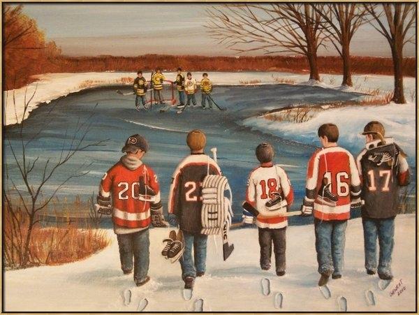 Ron  Genest - Winter Classic - 2010 Print