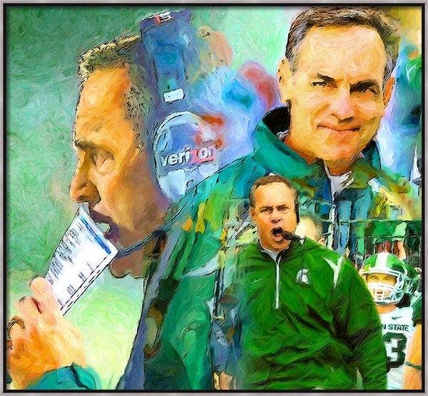 John Farr - Coach Mark Dantonio Print
