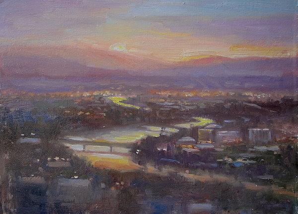 Lori  McNee - Above Missoula Print