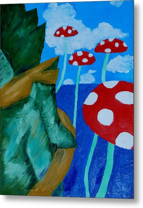 Yueping Song - Mushroom Land Print