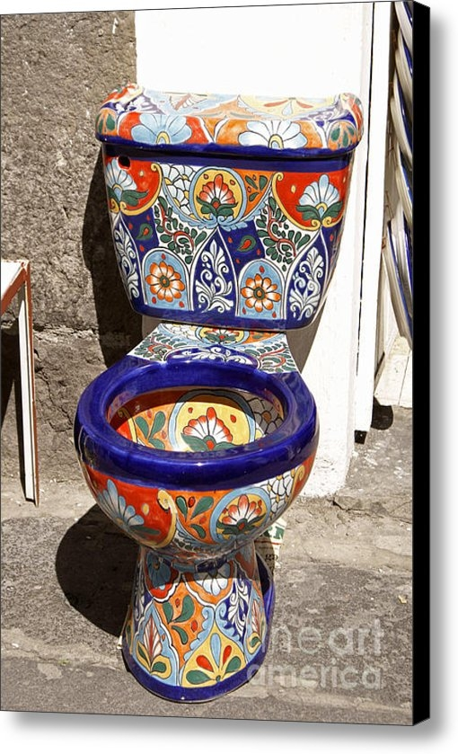 John  Mitchell - COLORFUL MEXICAN TOILET P... Print