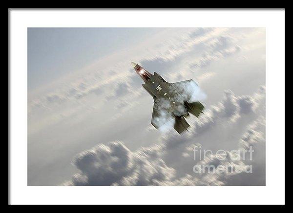 J Biggadike - F-35 Climb Print